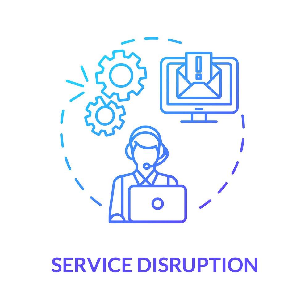 Service disruption concept icon